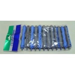 Eurostil wałki do trwałej SINUS długie szaro niebieskie z okrągłymi gumkamimi 12 szt.