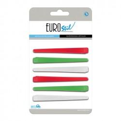 Eurostil klipsy plastikowe 6szt